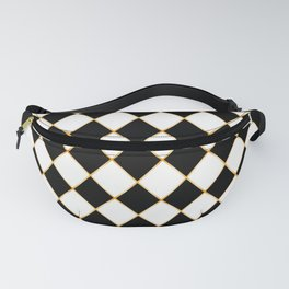 Chess board with golden threads Fanny Pack