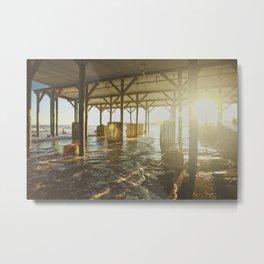 Underneath the Pier Metal Print