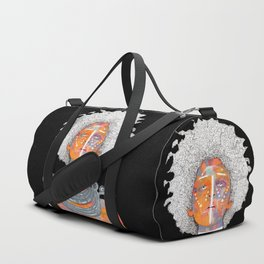 African Queen with white Eyes and awesome Afro Duffle Bag