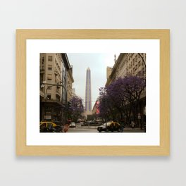 El Obelisco, Buenos Aires  Framed Art Print