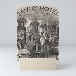 affiches Savoy Hotel St Moritz voyage poster Mini Art Print