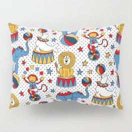 Little Circus Stars on White Pillow Sham