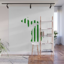 Green and White Michigan Wall Mural