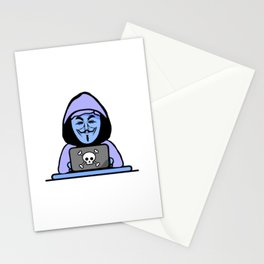 Hacker - I know your password Stationery Cards