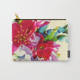 exploded floral Carry-All Pouch