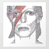 bowie Art Prints featuring Bowie by S. L. Fina