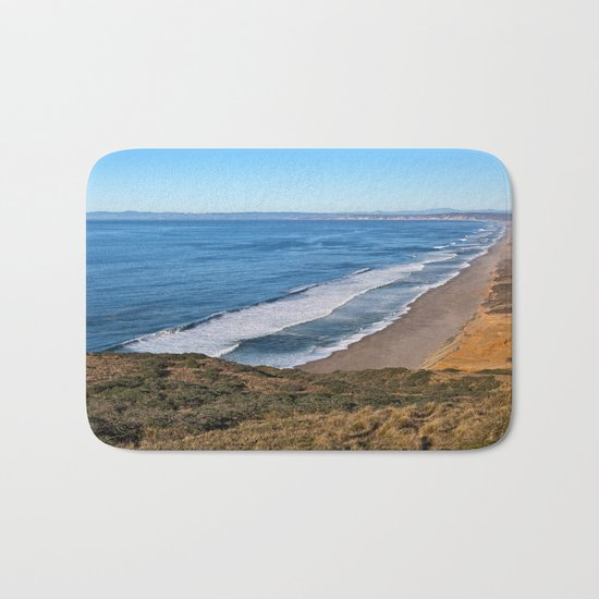 Point Reyes Coastal Scenery Bath Mat