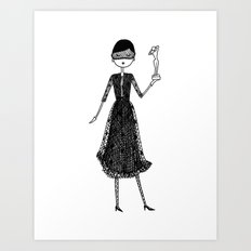 Eloise as Audrey Hepburn in How to Steal a Million Art Print