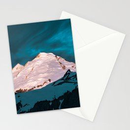 Mt Baker Blue Stationery Cards