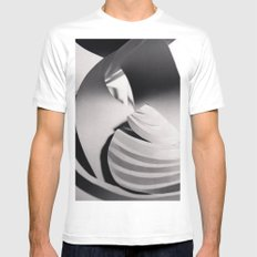 Paper Sculpture #6 White MEDIUM Mens Fitted Tee
