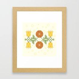Bells and Blooms Framed Art Print