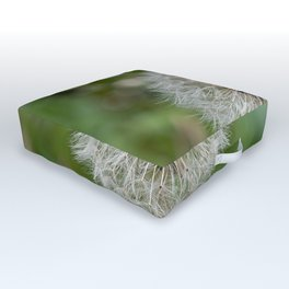 Shower head, infruttescence of the dandelion flower Outdoor Floor Cushion