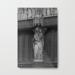 Madonna and Child Statue at Westminster Abbey in London England Metal Print