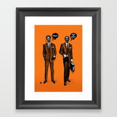 HALLOWEEN ZOMBIES Framed Art Print