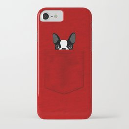 Pocket Boston Terrier iPhone Case