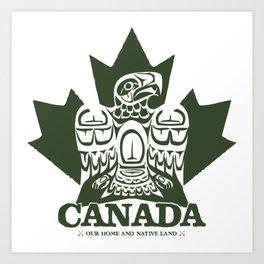 Canada Eagle (green) Art Print