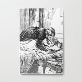 A Bit of Sunshine (1879) - Mama came up to kiss her goodnight Metal Print