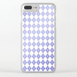 Modern geometric ultraviolet white diamonds patterns Clear iPhone Case