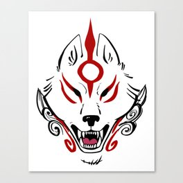 Okami Amaterasu (Plain White) Canvas Print