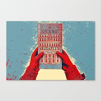 budapest hotel Canvas Prints featuring GRAND BUDAPEST HOTEL COLOR by Oleol