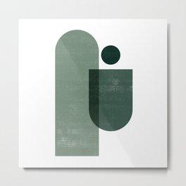 Minimal Mid Mod - Forest Green Metal Print