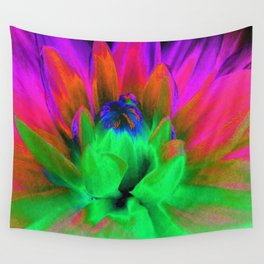Solarized Begonia Wall Tapestry