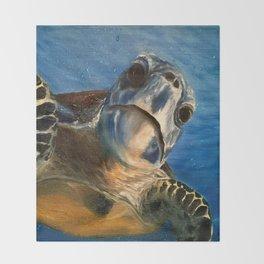 Nosey Turtle Throw Blanket