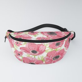 Pink Anemones Fanny Pack