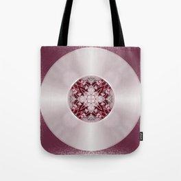 Vinyl Record Illusion in Pink Tote Bag