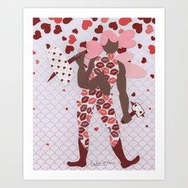 Battle Cupid:Hammer Art Print