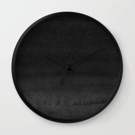 Black Ink Art No 3 Wall Clock