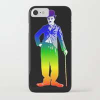 chaplin iPhone & iPod Cases featuring Chaplin by PsychoBudgie