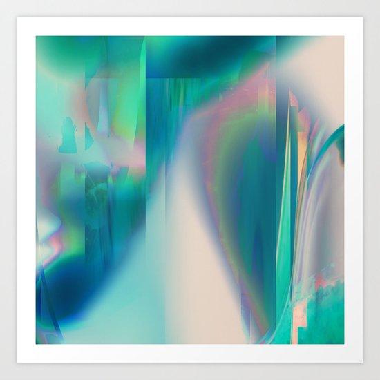Pacifica glitch Art Print