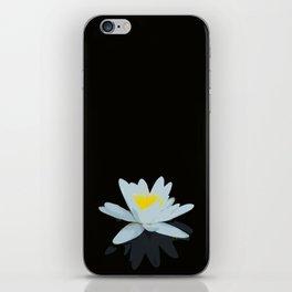 Waterlily Flowers On Black Background #decor #society6 #buyart iPhone Skin