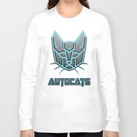 transformers Long Sleeve T-shirts featuring Autocats Transformers by Enrique Valles