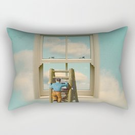 Window cleaner in the sky 02 Rectangular Pillow