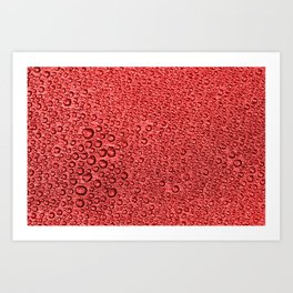 Water Condensation 05 Red Art Print