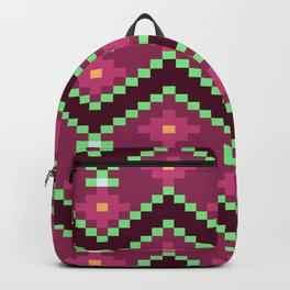 Native Aztec Purple Lined Pattern Backpack