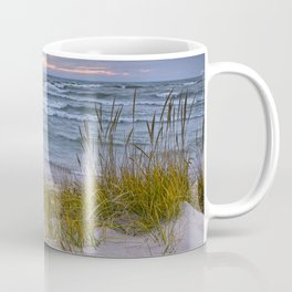 Lake Michigan Dune with Beach Grass at Sunset Coffee Mug