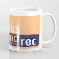 parks and rec Mugs featuring Barks and Rec Logo by barksandrec