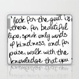 Audrey Hepburn Quote Laptop & iPad Skin