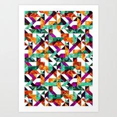 Aztec Geometric VI Art Print