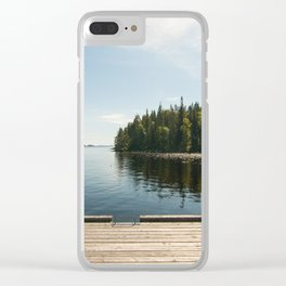 Sunny Day at the Dock Clear iPhone Case