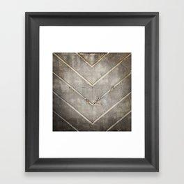 Concrete Chevron Framed Art Print