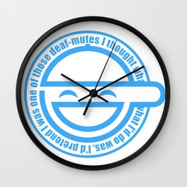 The Laughing Man Wall Clock