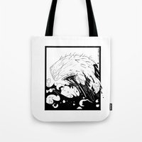 moby dick Tote Bags featuring Moby Dick by JoJo Seames