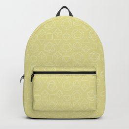 Yellow dice pattern Backpack