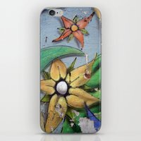 leah flores iPhone & iPod Skins featuring FLORES by María Massó