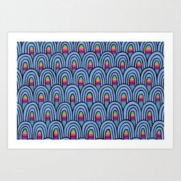 Utopia - blue Art Print