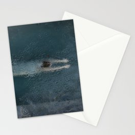 Woman Diving Stationery Cards